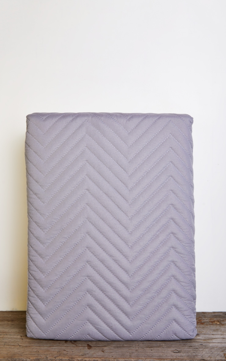 Silver Chevron All Over Pinsonic Double Duvet Set 3
