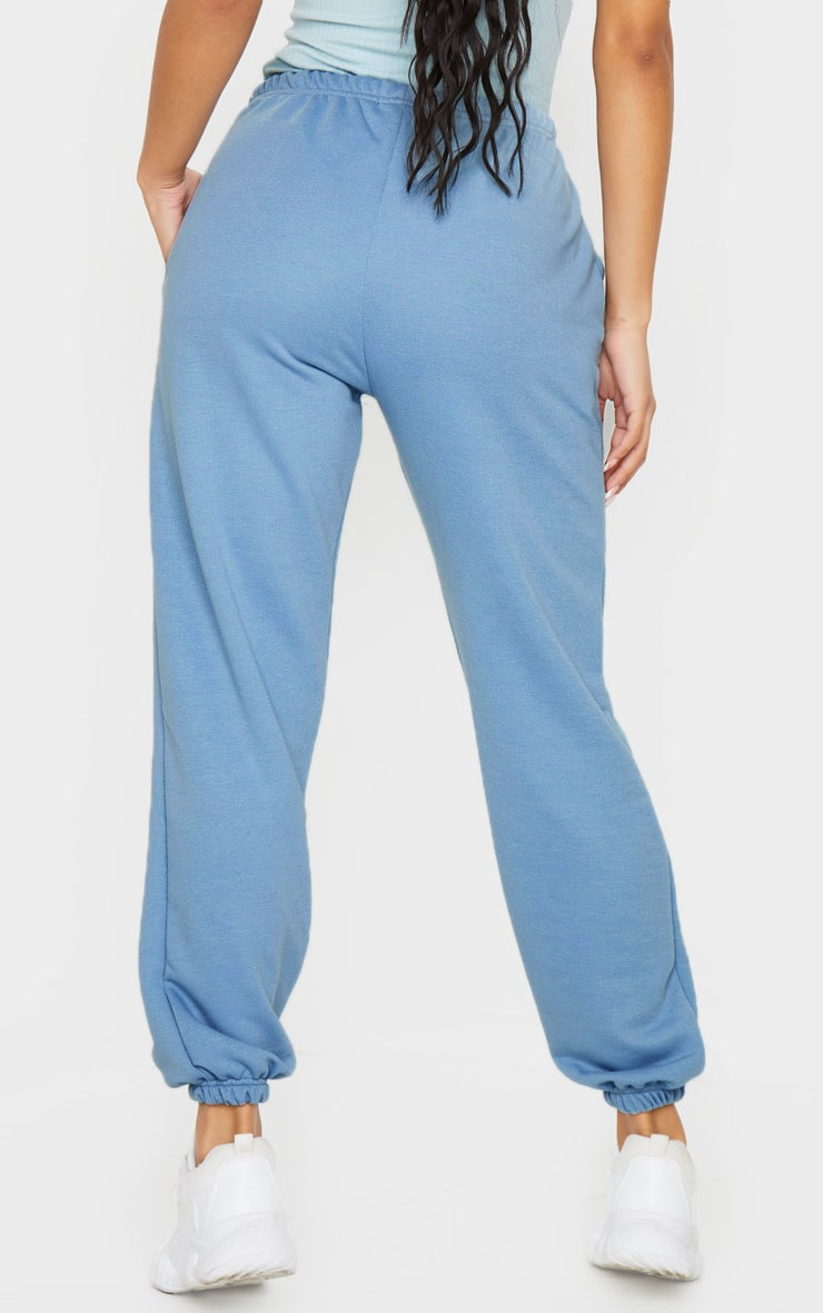 Dusty Blue Basic Cuffed Hem Jogger 3