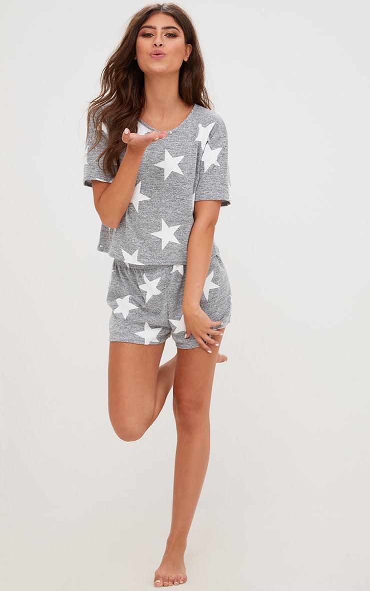 Grey Star T Shirt PJ Set  1