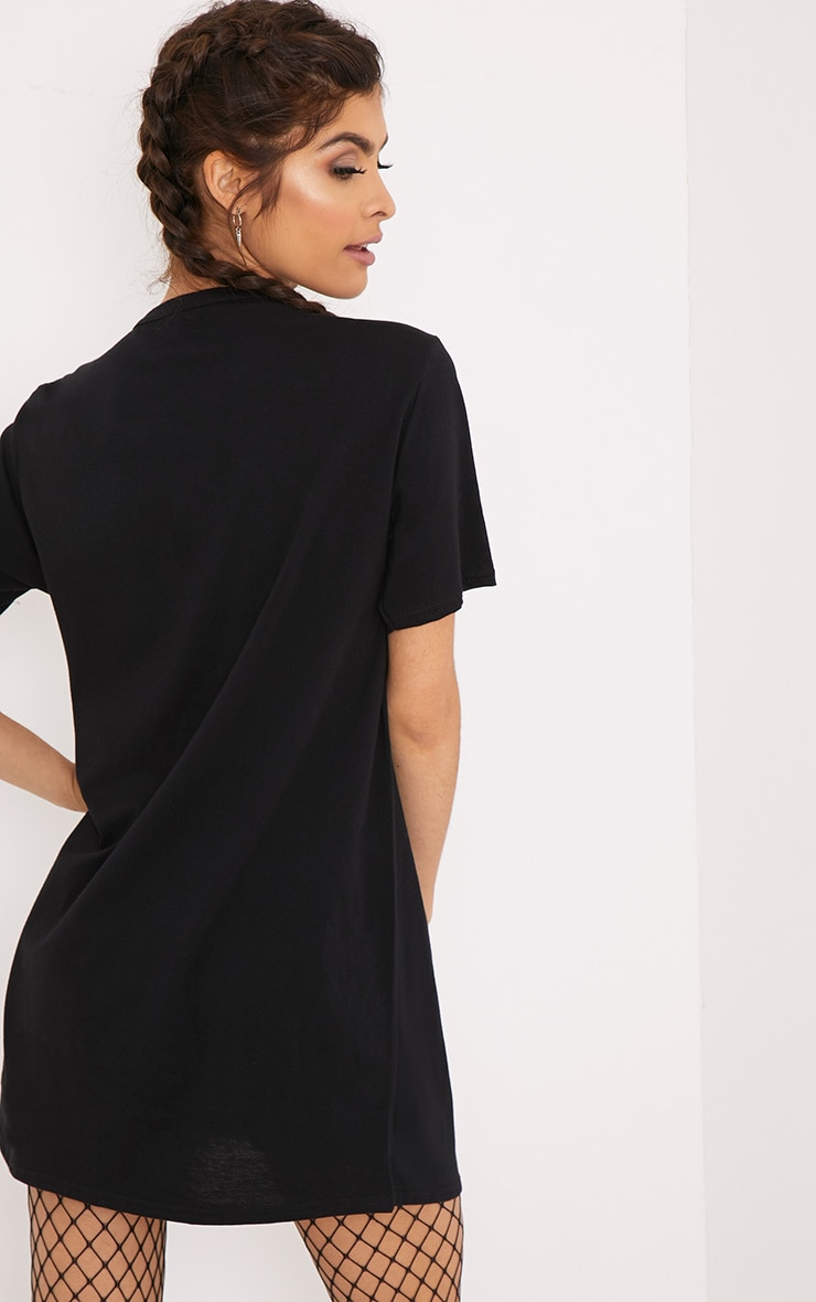 Live N Love Black Choker Detail T Shirt Dress 2