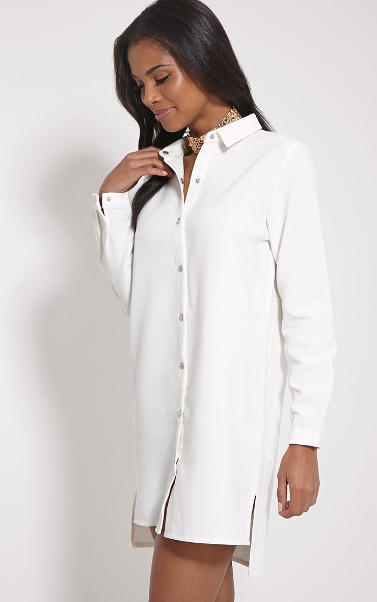 Raden Cream Premium Shirt Dress 1
