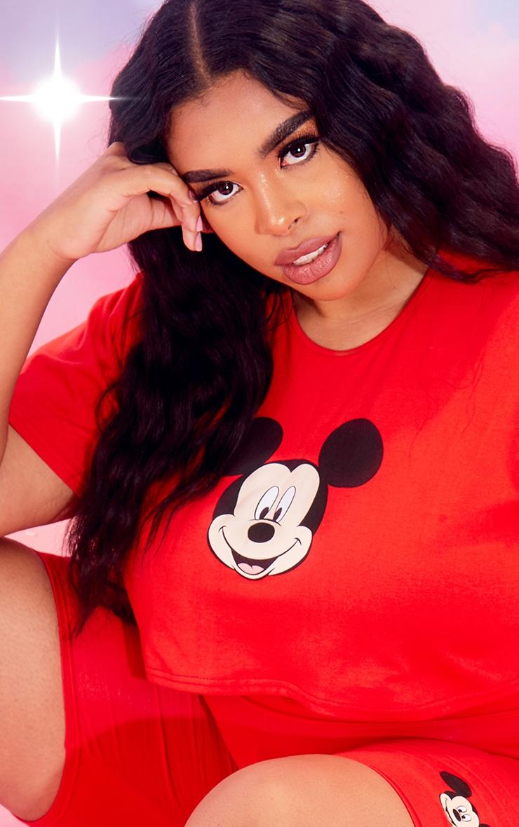 Plus Red Disney Crop T Shirt 4