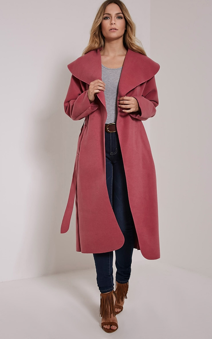 Veronica Pink Waterfall Coat 1