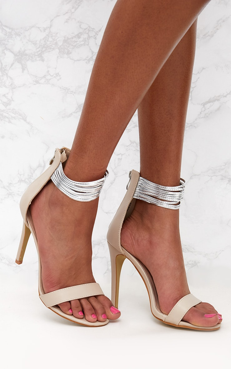 Nude Metallic Cuff Detail Sandal 1