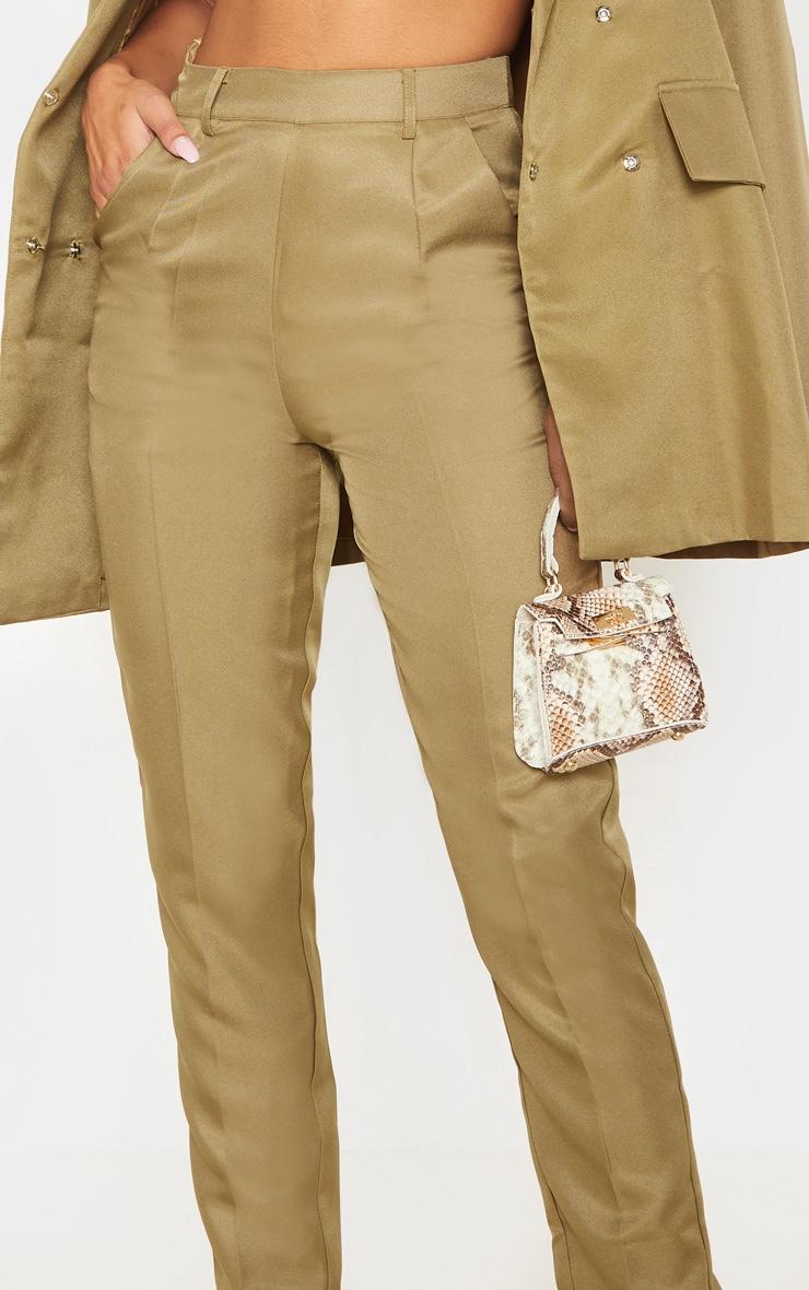Olive Slim Suit Pants  5