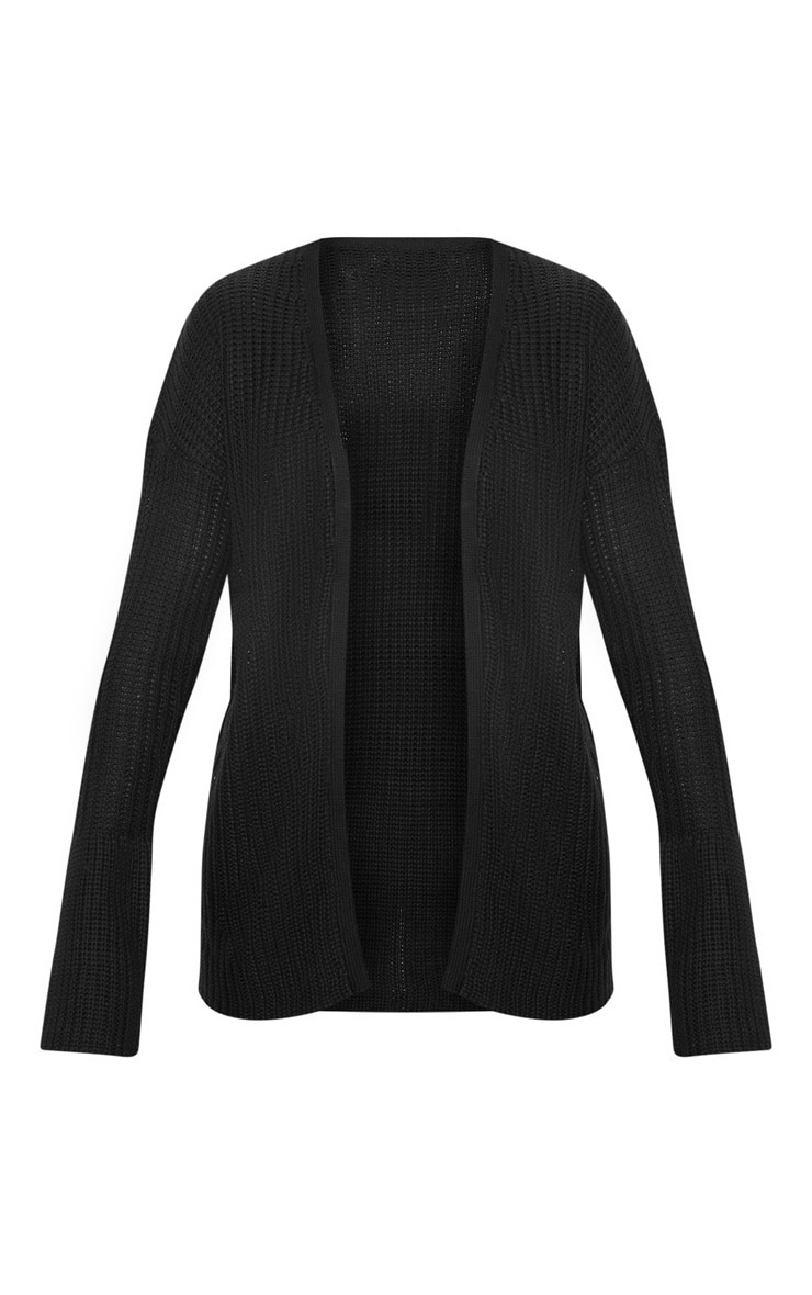 Black Flared Sleeve Cardigan 3