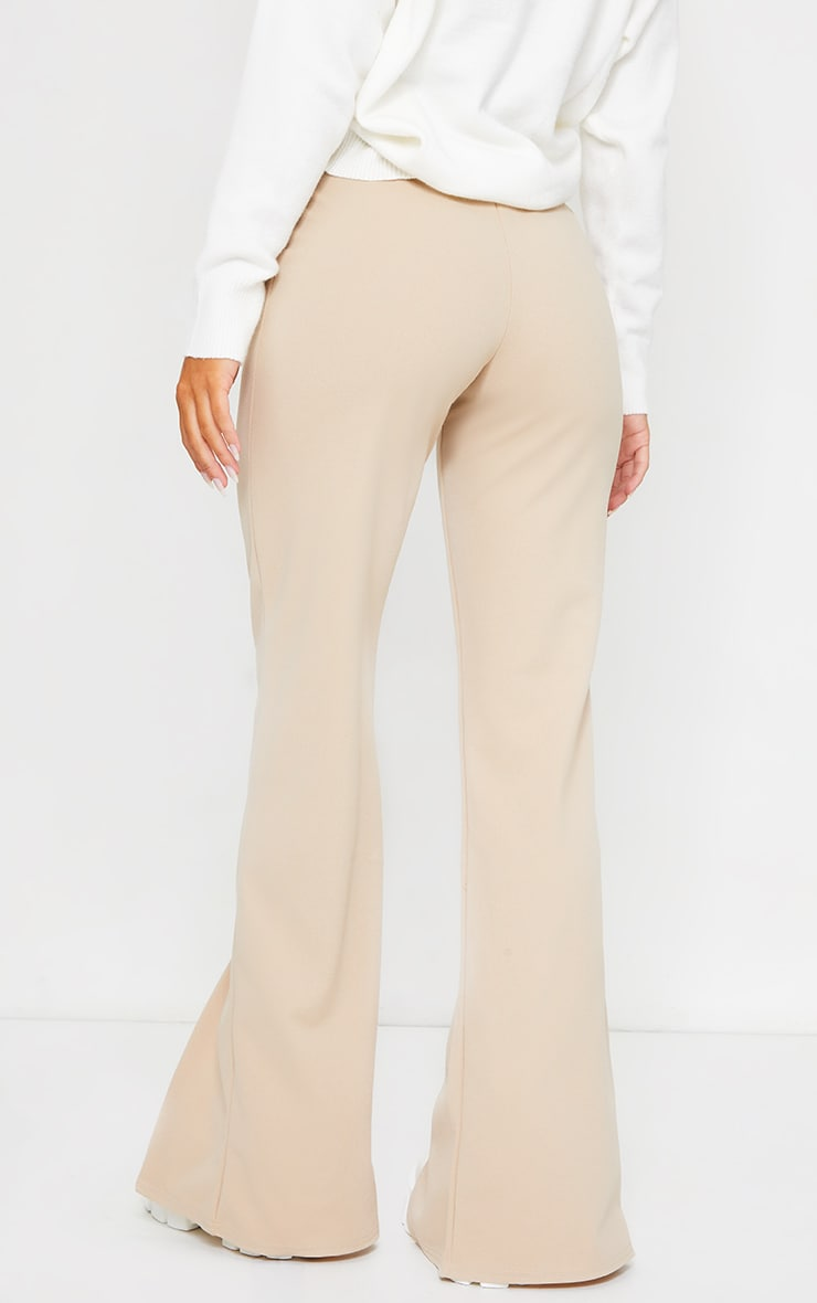 Stone Straight Leg Split Hem Trousers 3