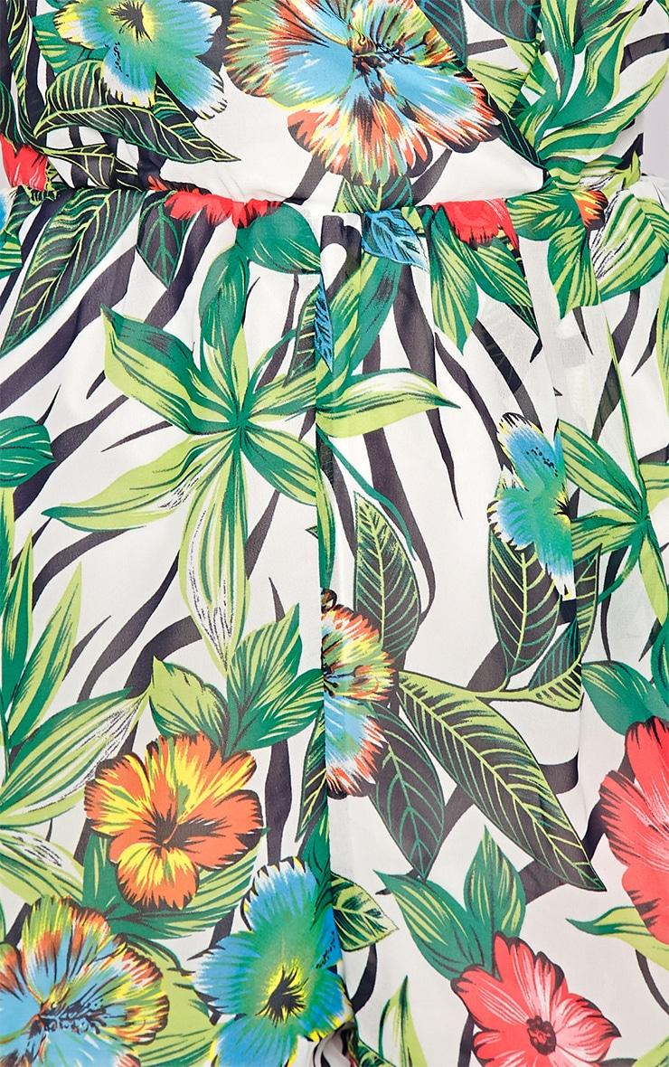 Riley Jungle Print Chiffon Playsuit  4