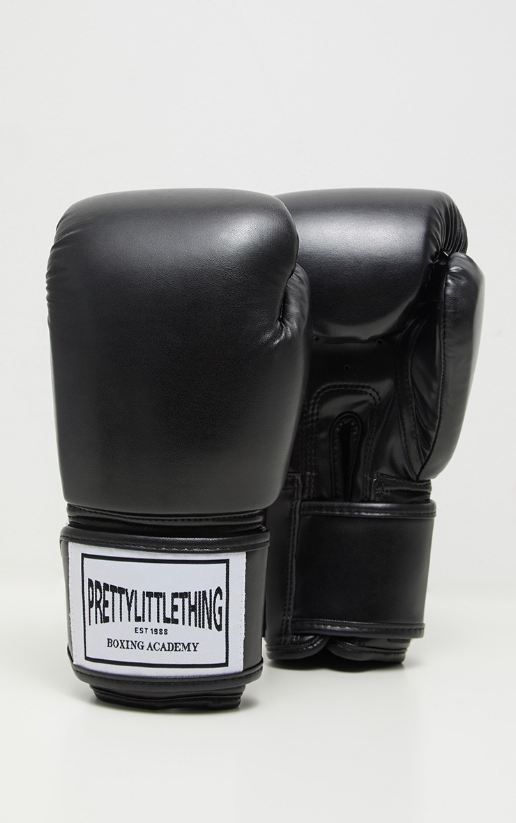 PRETTYLITTLETHING Black Boxing Gloves 3