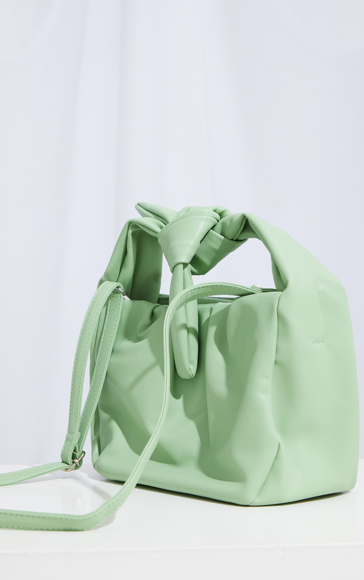 Sage Green Oversized Knot Crossbody Bag 4