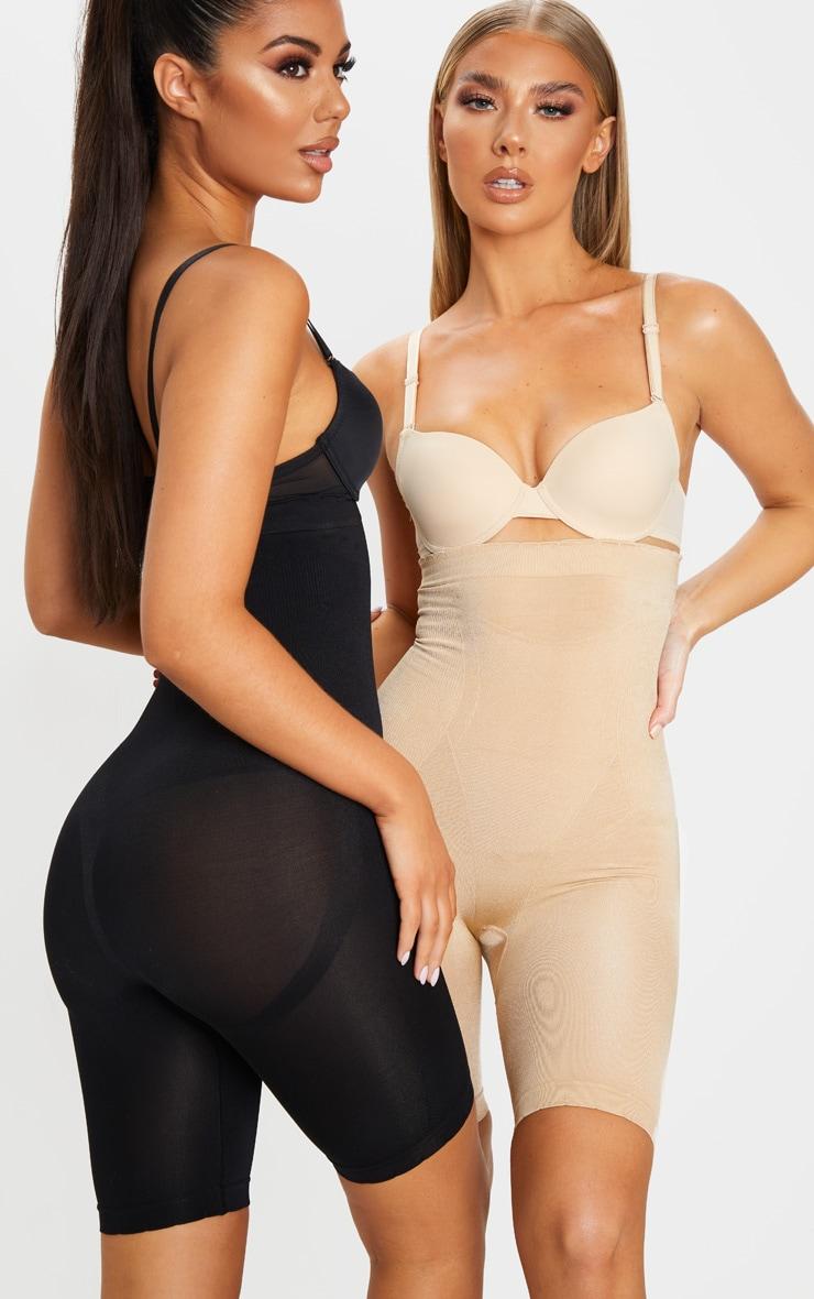 Black Bum Lift Shapewear High Waisted Short 1