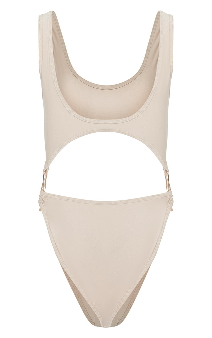 Stone Bamboo Ring Cut Out Swimsuit 4