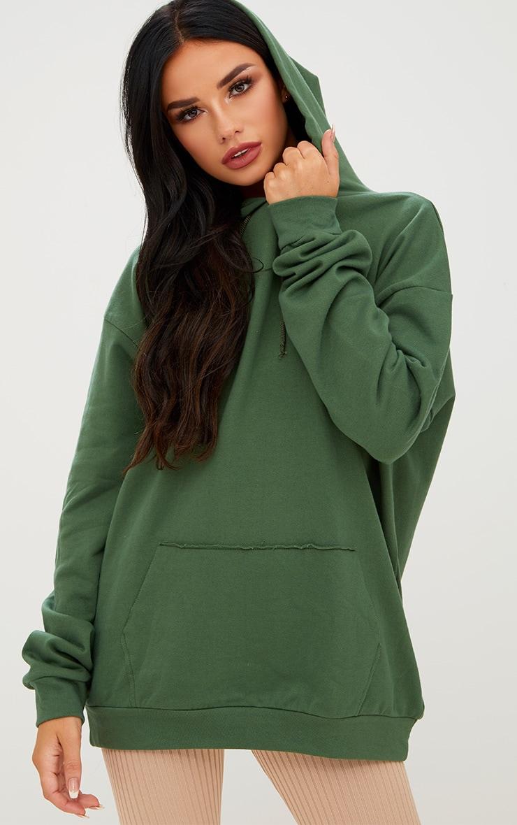 Khaki Oversized Hoodie 1