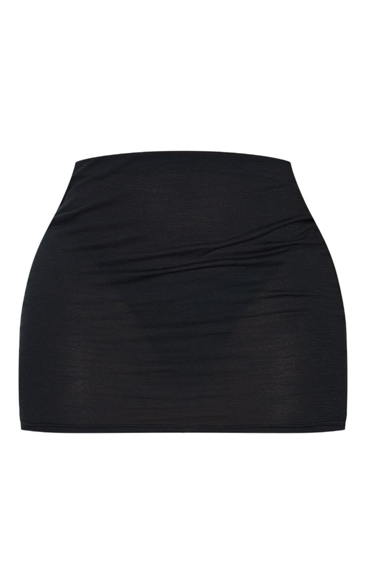 Shape Black Burnout Jersey Bodycon Skirt 6