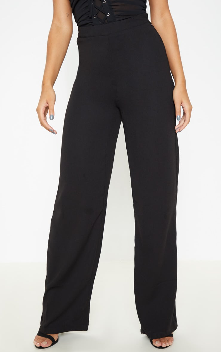 Black Wide Leg High Waisted Trousers 2