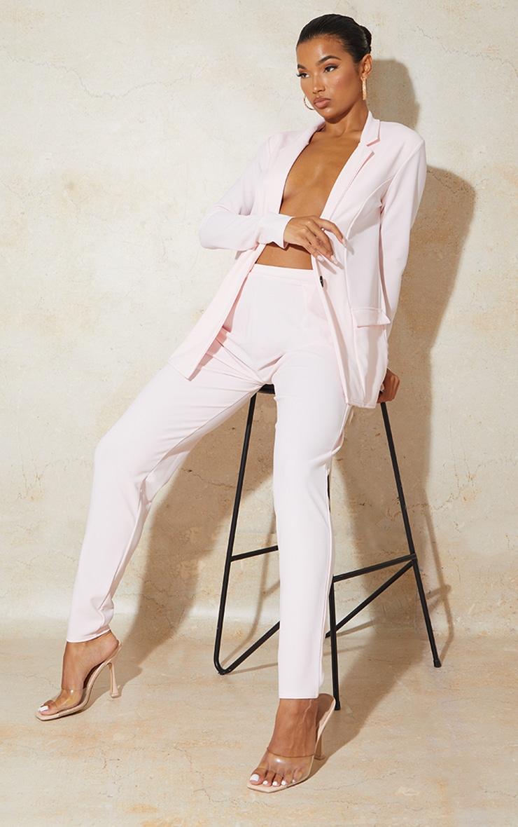 Light Pink Cigarette Crepe Trousers 1
