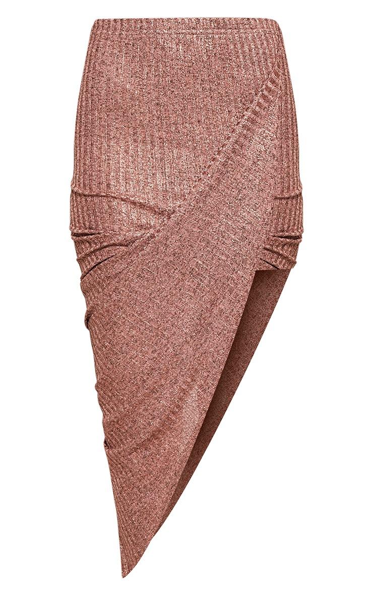 Alba jupe moulante drapée or rose 3