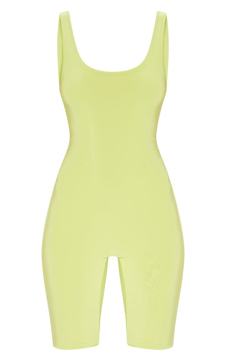 Lime Slinky Unitard 3