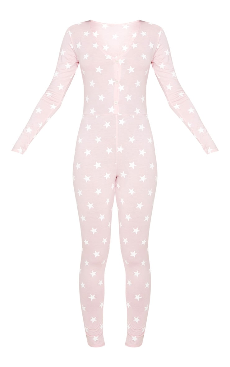 Baby Pink Star Print Onesie 3