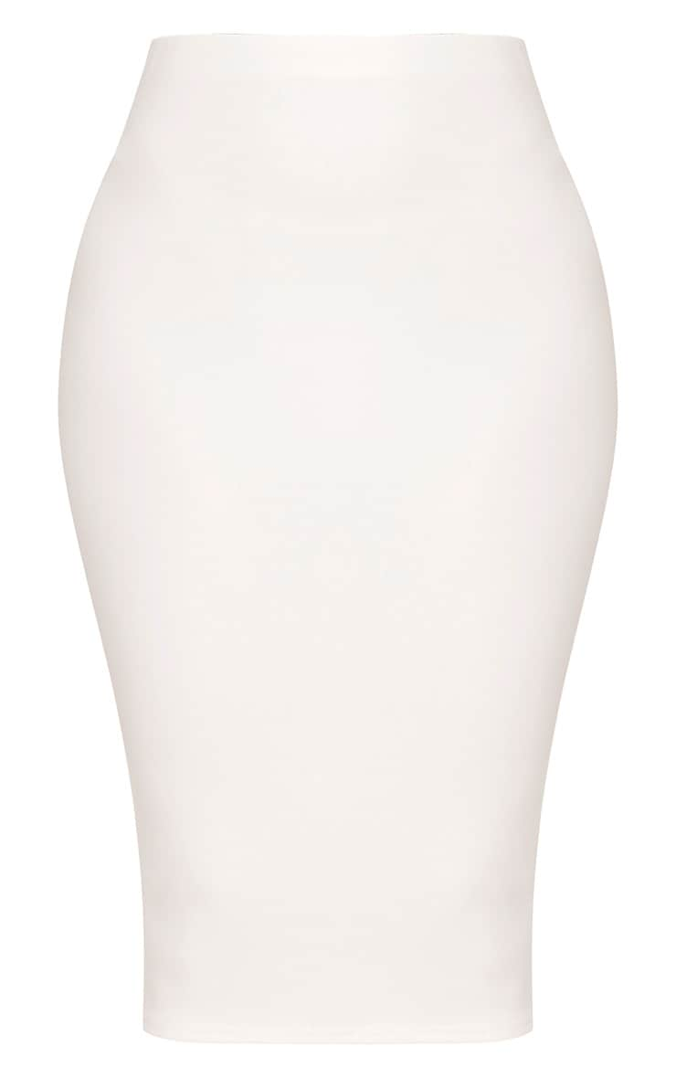 Winnie Cream Scuba Midi Skirt 3