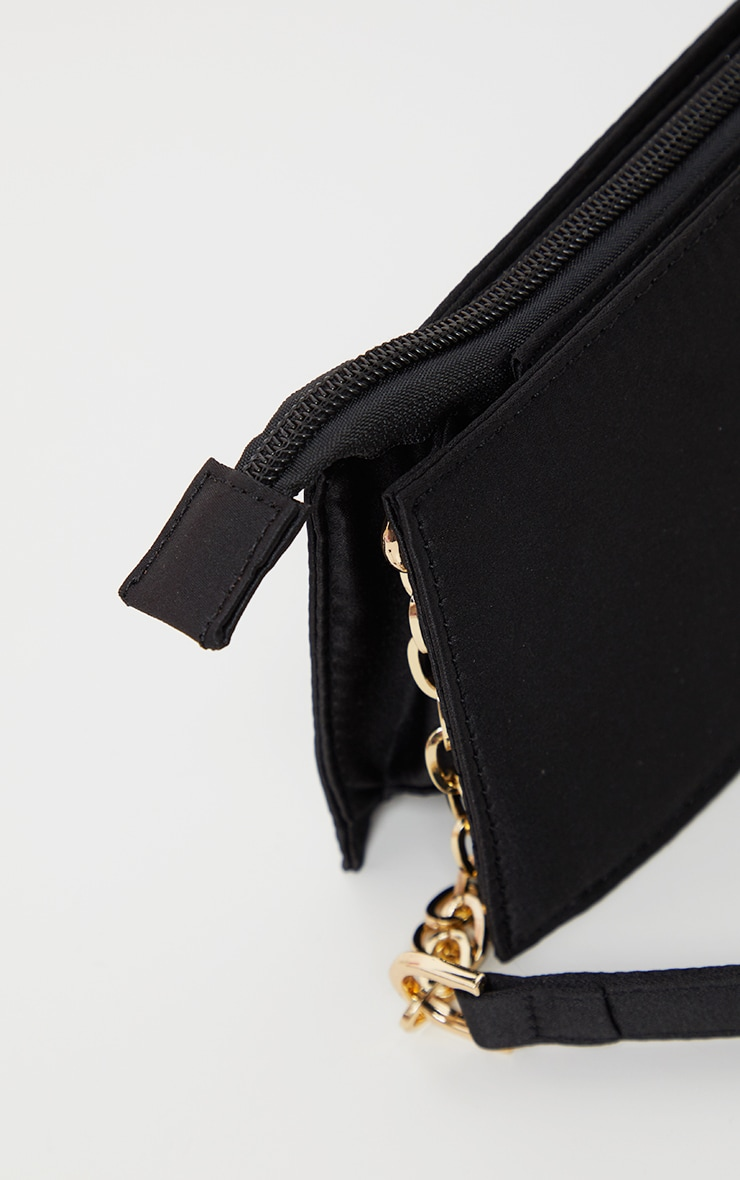 Black Chain Handle 90s Shoulder Bag          4