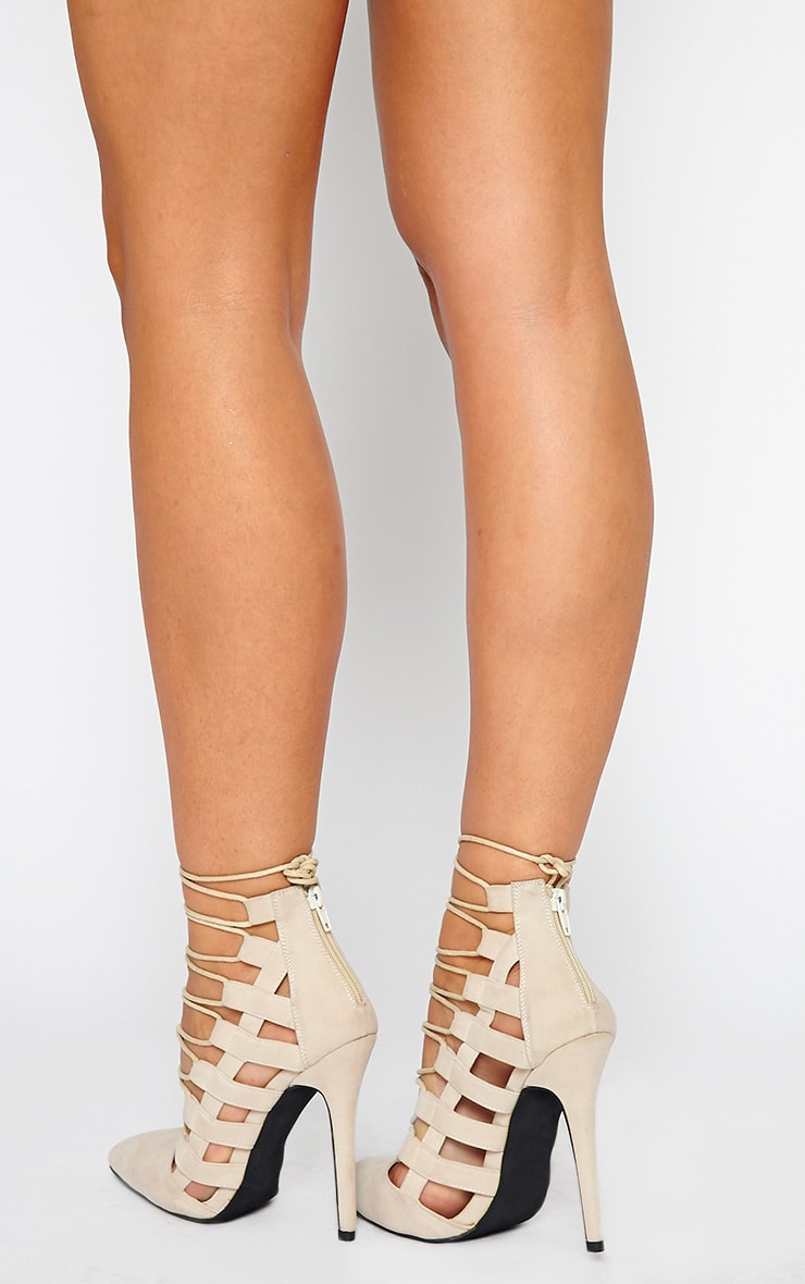 Amaris Nude Pointed Strappy Heels 3