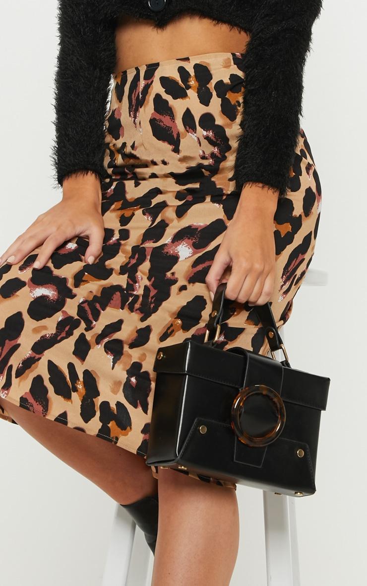 Jupe mi-longue à imprimé léopard 5