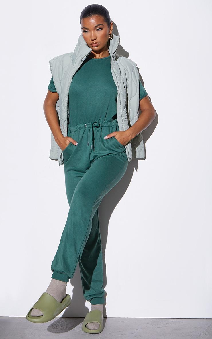 RENEW Green Short Sleeve Sweat Jumpsuit 1