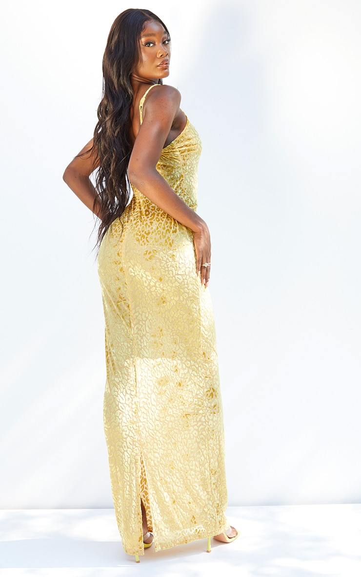 Tall Yellow Burnt Out Strappy Maxi 2