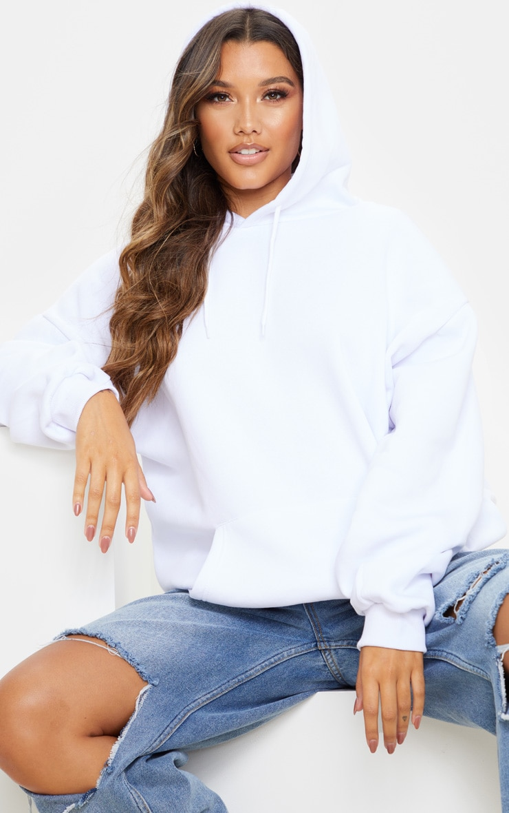 White Ultimate Oversized Hoodie 4