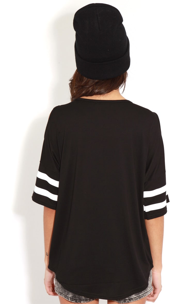 Ryleigh Black 96 Cut Out Shoulder Tee 2