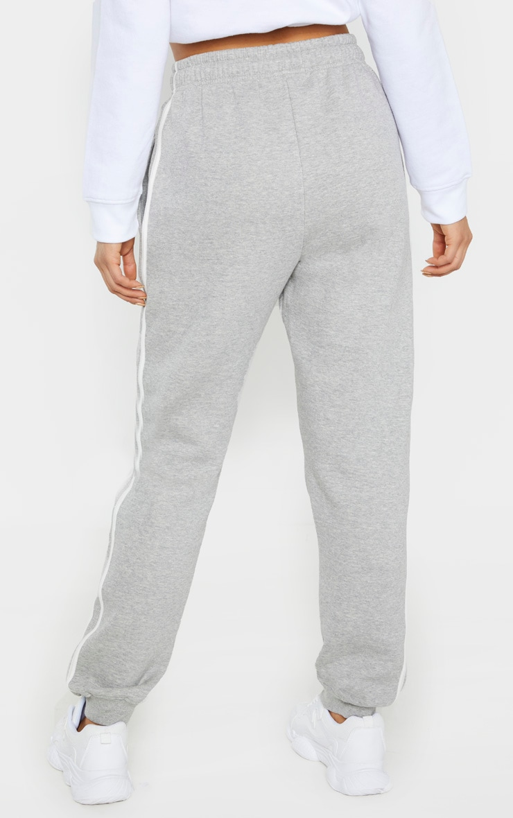 Tall Grey Double Side Stripe Jogger  4