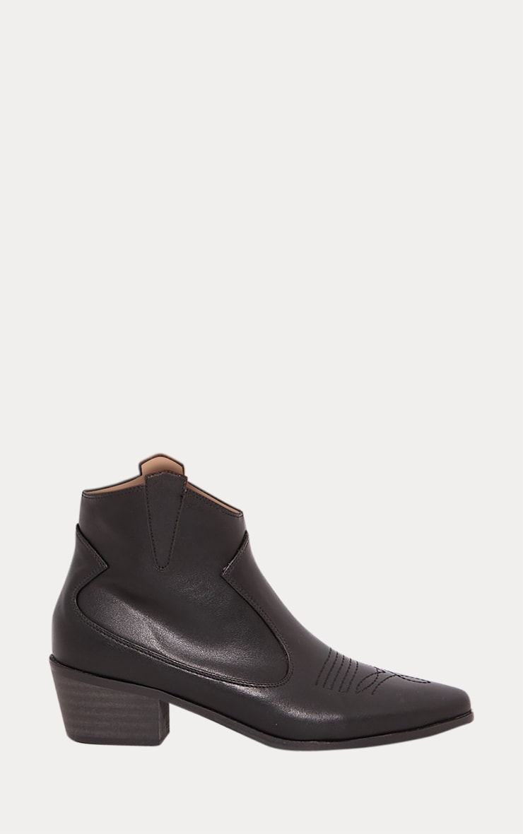 Black Western Ankle Boot 2
