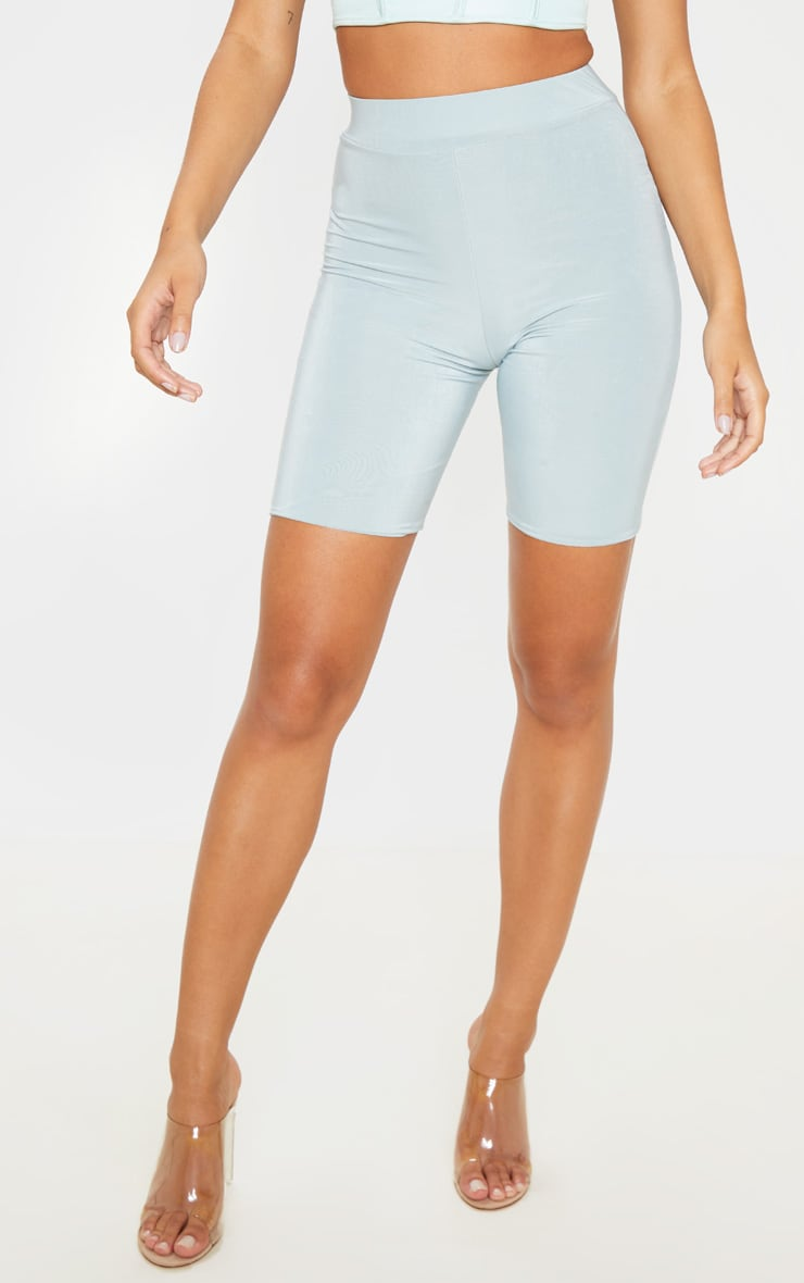 Mint High Waist Slinky Cycling Shorts 2