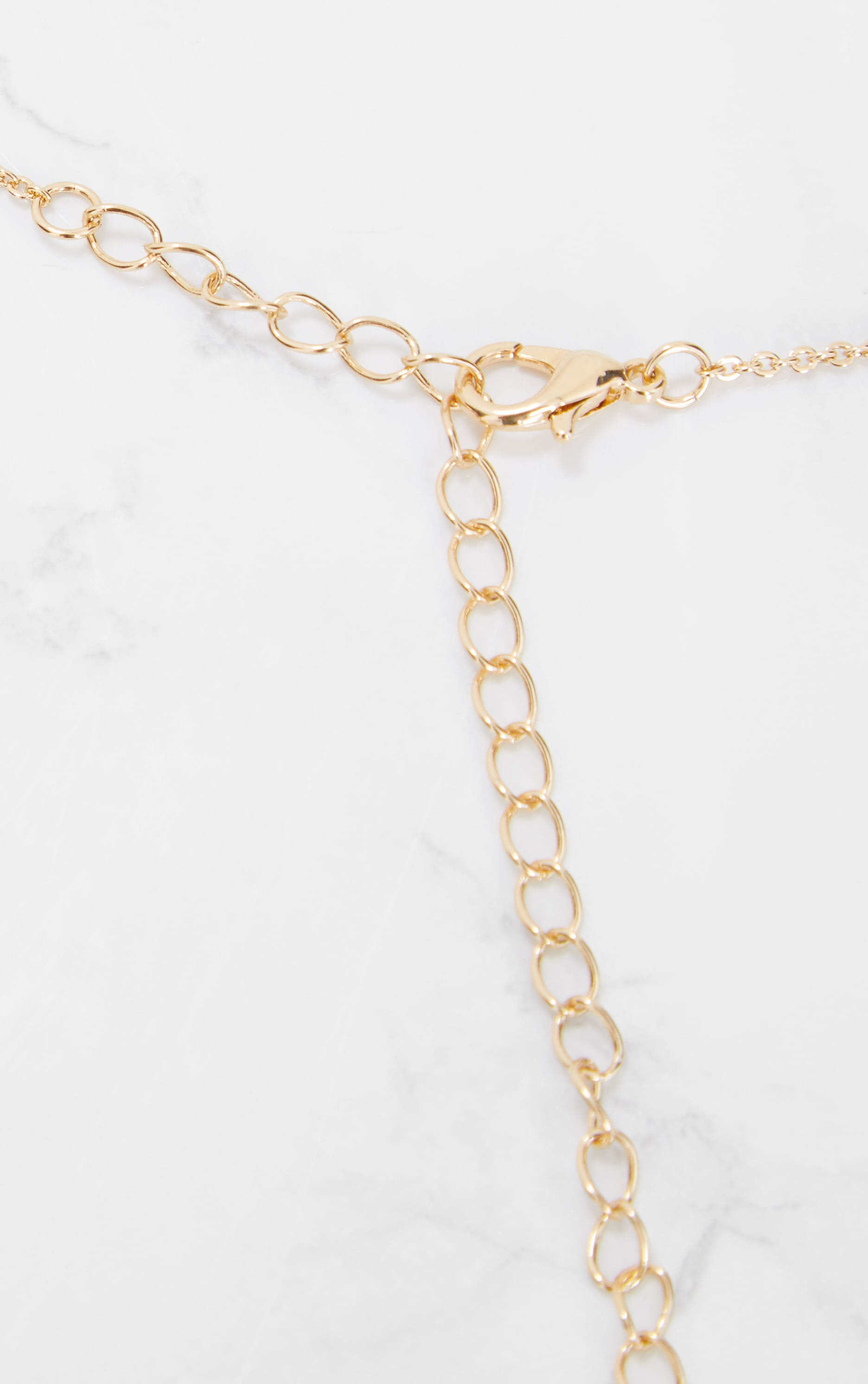 Gold Scripted Necklace 3