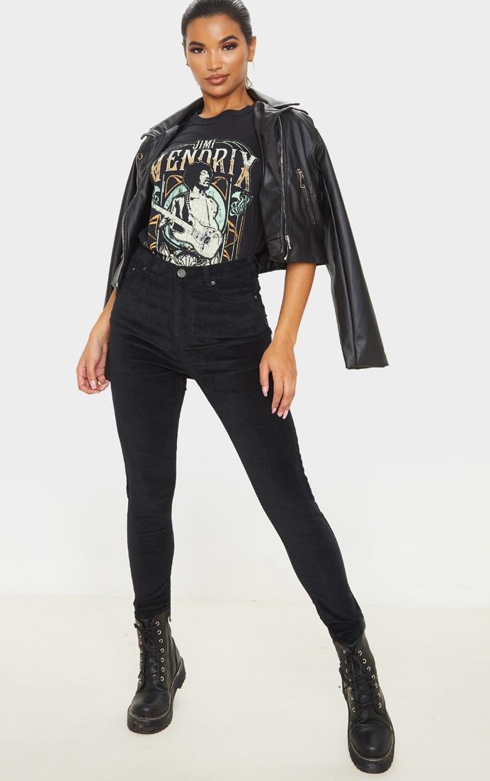 Black Velvet Skinny Jeans  1
