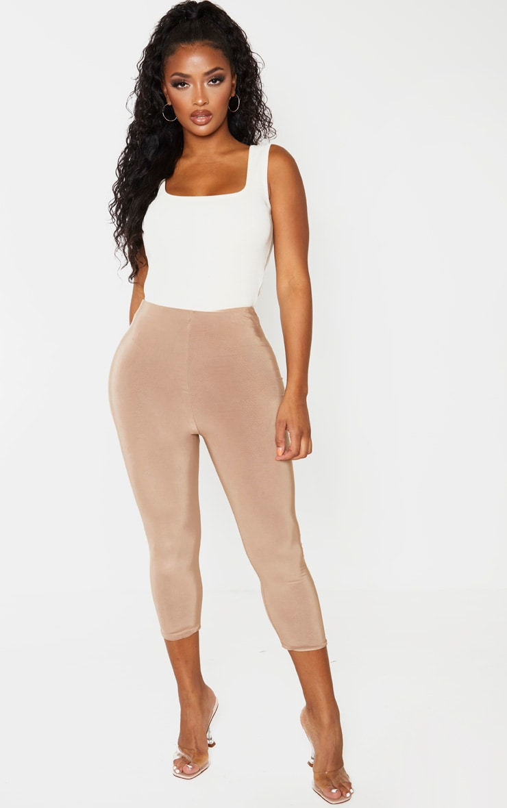 Shape Cream Ribbed Square Neck Bodysuit 5