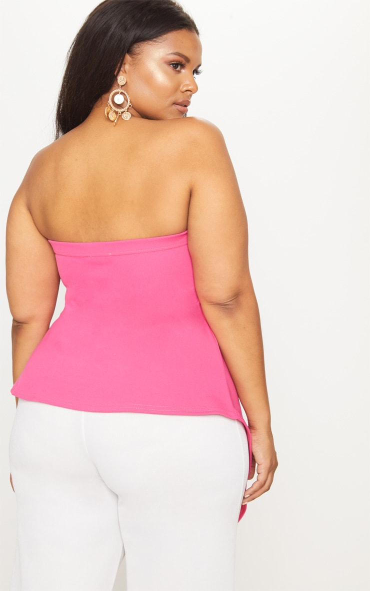 Plus Hot Pink Origami Bandeau Top 2
