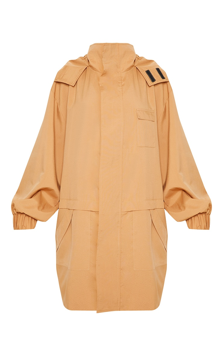 Camel Oversized Sports Mac  3