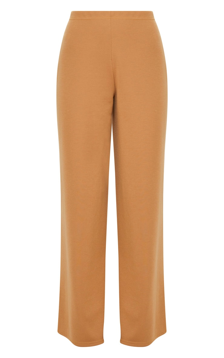 Camel Sweat Wide Leg Trousers  3