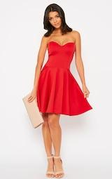 14d92ccdbffa Marissa Red Strapless Skater Dress | Dresses | PrettyLittleThing USA