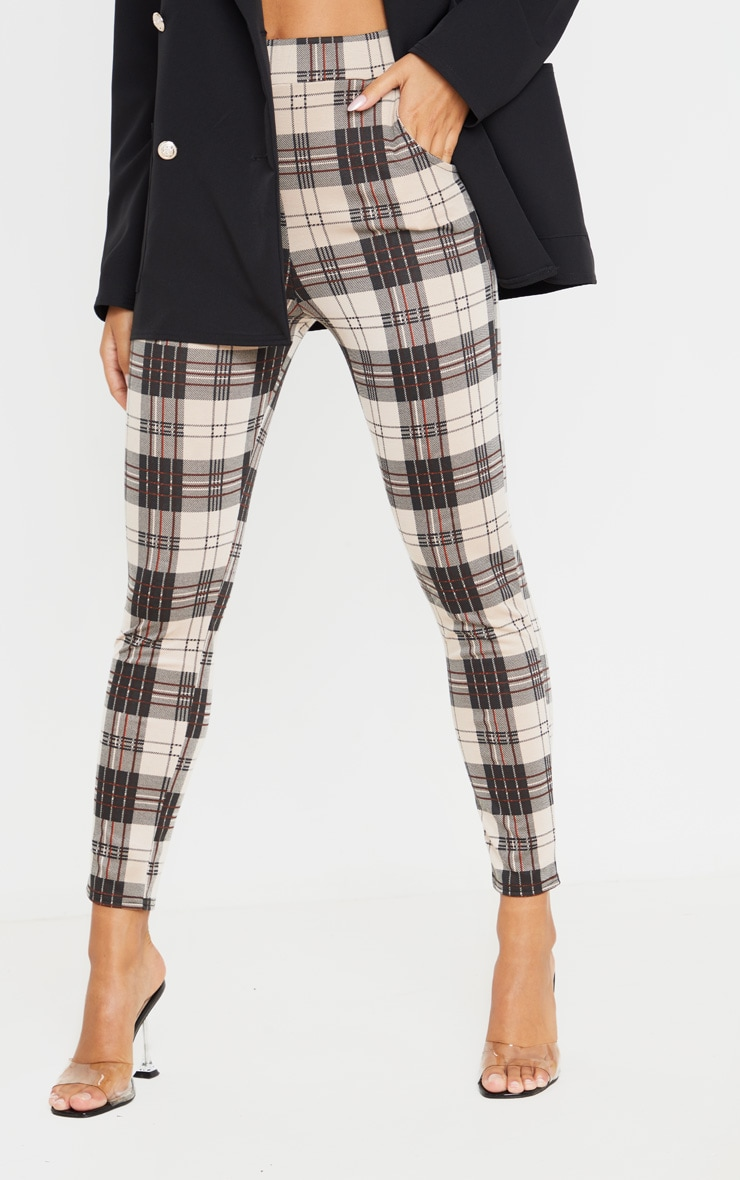 Stone Checked Skinny Pants 2