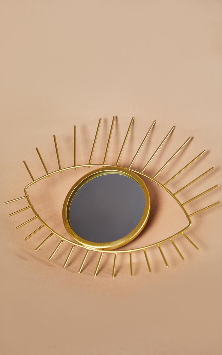 Miroir doré oeil tribal 3