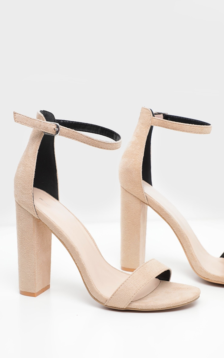 Nude Wide Fit Block Heeled Sandals  3