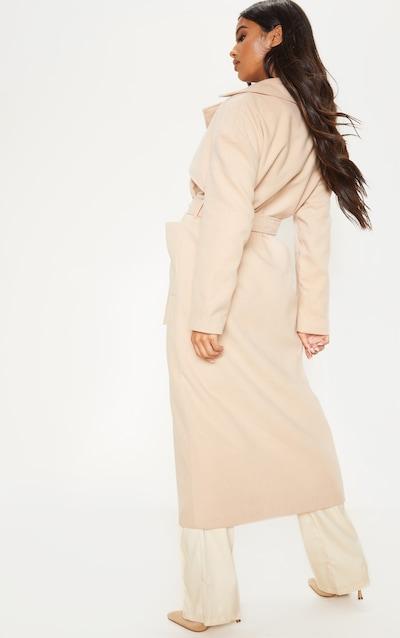 Stone Maxi Belted Coat