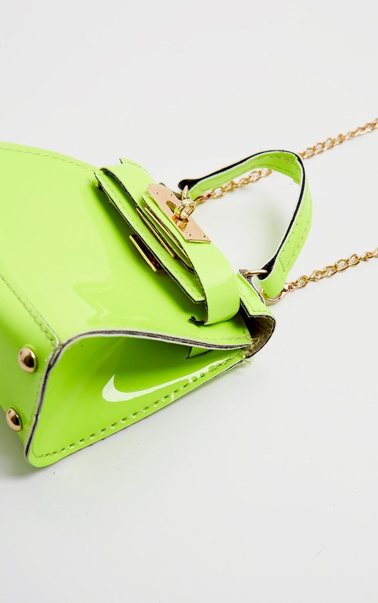Neon Lime Micro Mini Bag 3