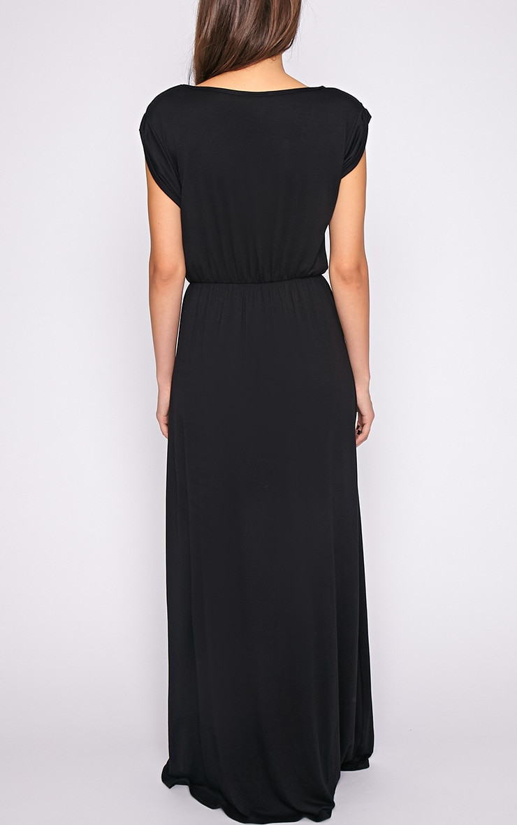 Liberty Black Tshirt Maxi Dress 2