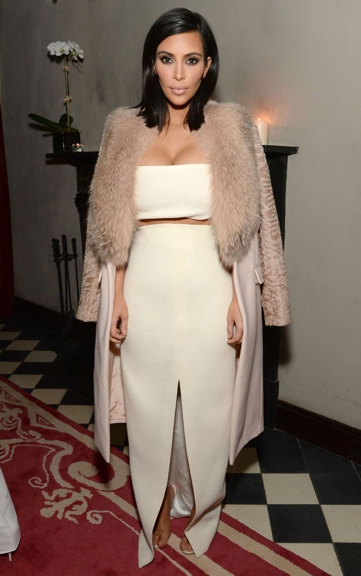 Kaja Lilac Scuba Split Skirt 2