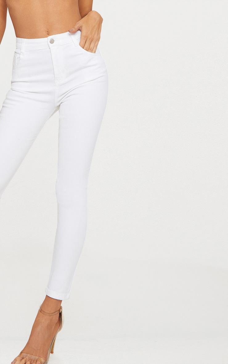 White Skinny 5 pocket Jean  5