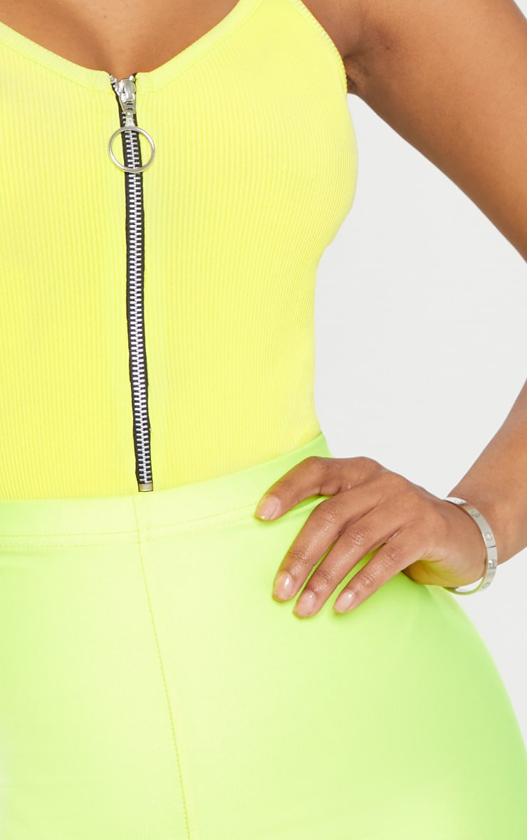 Shape Neon Lime Ribbed Ring Pull Bodysuit 6